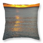 The Black Sea In A Swath Of Gold Throw Pillow