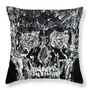 The Black Skull - Oil Portrait Throw Pillow