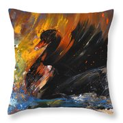 The Black Swan Throw Pillow