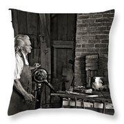 The Blacksmith 2 Monochrome Throw Pillow