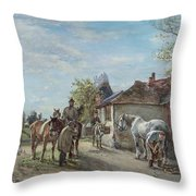 The Blacksmith Throw Pillow