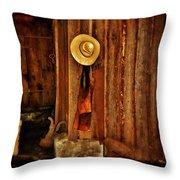 The Blacksmith's Hat Throw Pillow