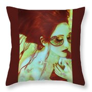 The Bleeding Dream - Self Portrait Throw Pillow