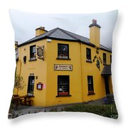 The Blind Piper Pub Throw Pillow