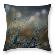 The Bling Of Blue Throw Pillow