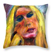 The Blonde 2 Throw Pillow