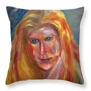 The Blonde Throw Pillow