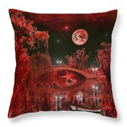The Blood Moon Throw Pillow