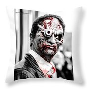 The Bloody Devil Throw Pillow
