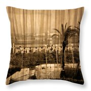 The Bloody Island Xviii Century Navy Hospital In Menorca Miniaturized Throw Pillow