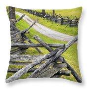 The Bloody Lane At Antietam Throw Pillow