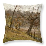 The Bloom Of The Grape Throw Pillow