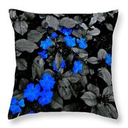 The Blue And Grey Throw Pillow