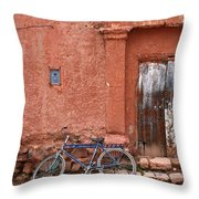 The Blue Bicycle Throw Pillow