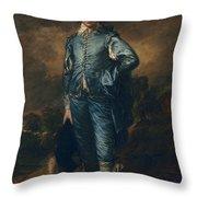 The Blue Boy, C.1770 Throw Pillow