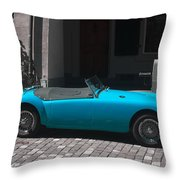 The Blue Car Throw Pillow