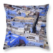 The Blue City Of Jodhpur In India Throw Pillow