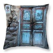 The Blue Door 1 Throw Pillow