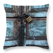 The Blue Door 2 Throw Pillow