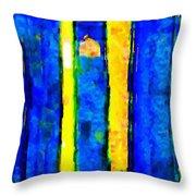 The Blue Doors Of La Rue Des Fauves Throw Pillow