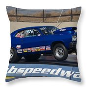 The Blue Duster Throw Pillow