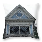 The Blue Gable Throw Pillow