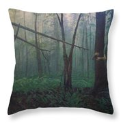 The Blue-green Forest Throw Pillow