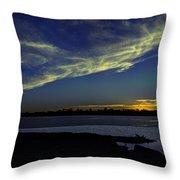 The Blue Hour Sunset Throw Pillow