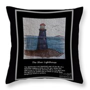The Blue Lighthouse Throw Pillow