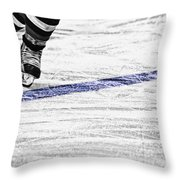 The Blue Line Throw Pillow by Karol Livote
