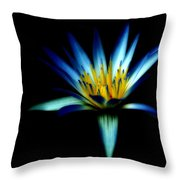 The Blue Lotus Of Egypt Throw Pillow