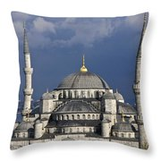 The Blue Mosque In Istanbul Throw Pillow