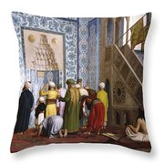 The Blue Mosque Throw Pillow by Jean Leon Gerome