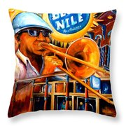 The Blue Nile Jazz Club Throw Pillow