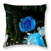 The Blue Pair Throw Pillow