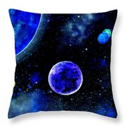 The Blue Planet Throw Pillow