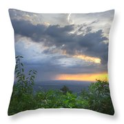 The Blue Ridge Mountains Throw Pillow by Debra and Dave Vanderlaan