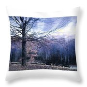 The Blue Trees Throw Pillow