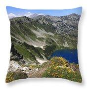 The Blue Vasilashko Lake Pirin National Park Bulgaria  Throw Pillow