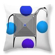 The Blue Zebra Throw Pillow