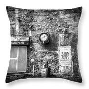 The Blues Ship Cafe Throw Pillow