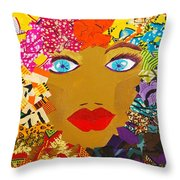 The Bluest Eyes Throw Pillow