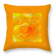 The Blushing Yellow Rose Abstract 2 Throw Pillow