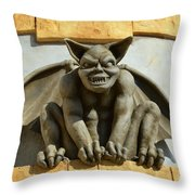 The Boardwalk Of Santa Cruz Gargoyles Throw Pillow