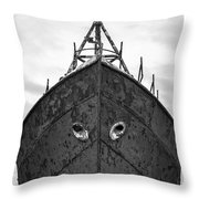 The Boat Throw Pillow