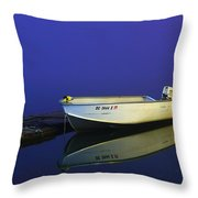 The Boat In The Fog Throw Pillow