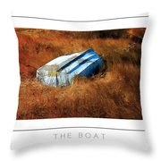 The Boat Poster Throw Pillow