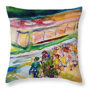 The Boat Trip, 1989 Wc On Paper Throw Pillow