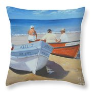 The Boaters Throw Pillow