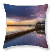 The Boathouse Throw Pillow